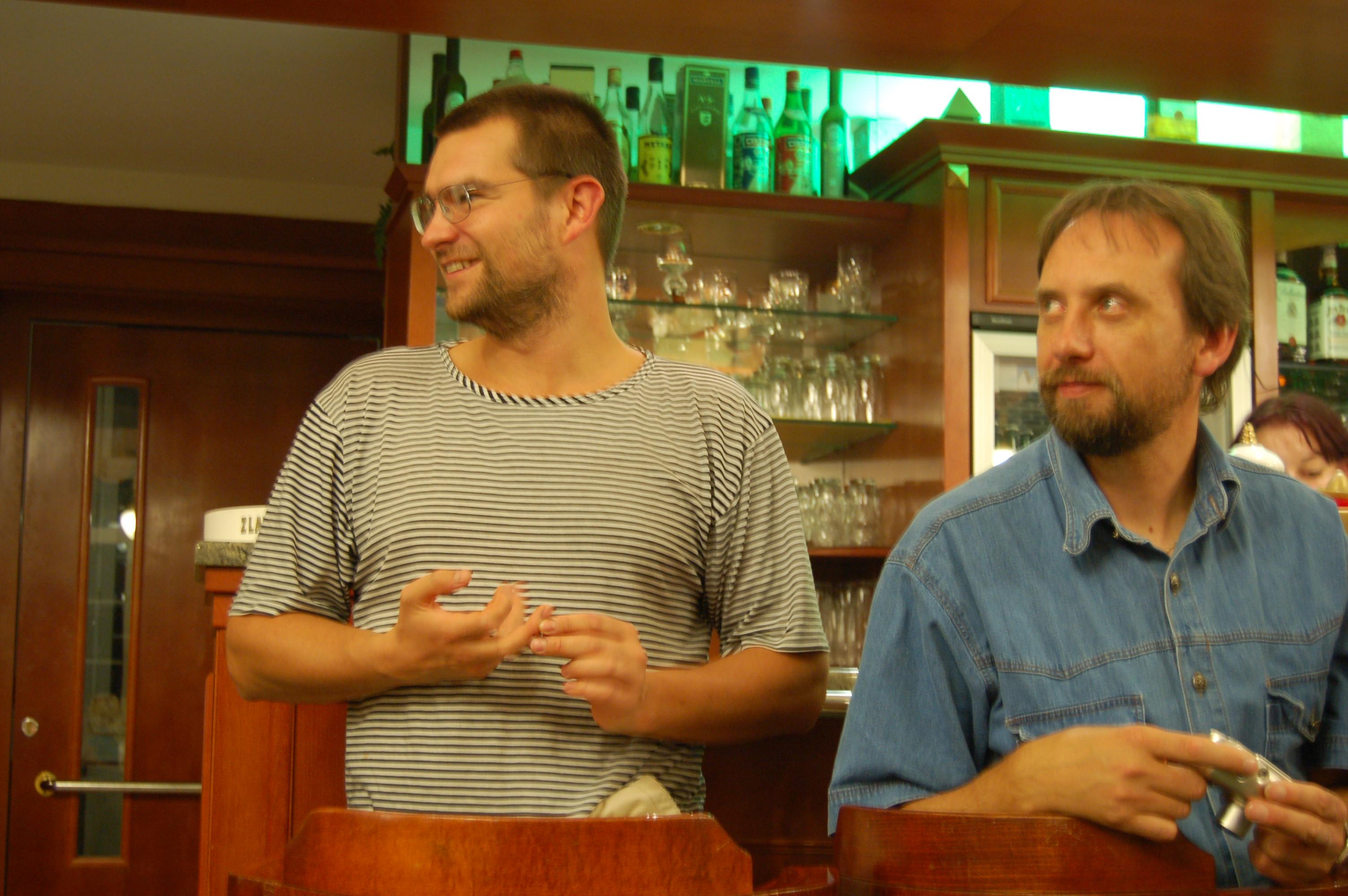 Aurel Klimt a šéf festivalu 70 mm filmu Pavel Tomešek